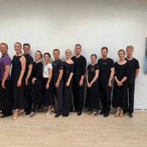 Sidste undervisningsgang i forårsæsonen for konkurrencedanserne
